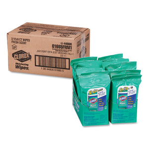 ESCLO01665 - Disinfecting Wipes On The Go, Fresh Scent, 7 X 8, 9-pack, 24 Packs-carton