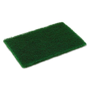 ESCMCMD6900 - Medium Duty Scouring Pad, 6 X 9, Green, 10 Per Pack, 6 Packs-carton