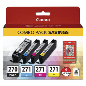 ESCNM0373C005 - 0373C005 (PGI-270-CLI-271) INK-PAPER COMBO, BLACK-TRI-COLOR