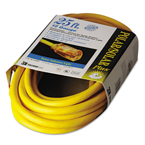 ESCOC01687 - Polar-solar Indoor-Outdoor Extension Cord With Lighted End, 25ft, Yellow