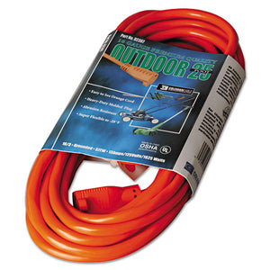 ESCOC02307 - Vinyl Outdoor Extension Cord, 25ft, 13 Amp, Orange