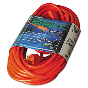 ESCOC02308 - Vinyl Outdoor Extension Cord, 50ft, 13 Amp, Orange