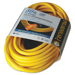ESCOC03488 - Polar-solar Outdoor Extension Cord, 50ft, Three-Outlets, Yellow
