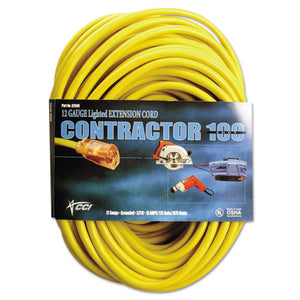 ESCOC25890002 - Vinyl Outdoor Extension Cord, 100 Ft, 15 Amp, Yellow