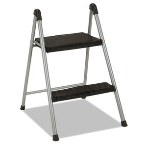 "ESCSC11024PBL1E - Folding Step Stool, 2-Step, 200lb, 16 9-10"" Working Height, Platinum-black"