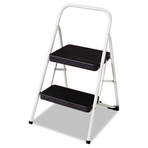 ESCSC11135CLGG1 - 2-Step Folding Steel Step Stool, 200lbs, 17 3-8w X 18d X 28 1-8h, Cool Gray