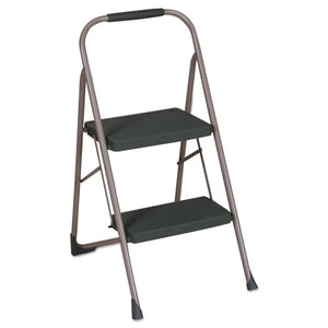 "ESCSC11308PBL1E - 2-Step Big Step Folding Stool, 200lb, 22"" Spread, Black-gray"