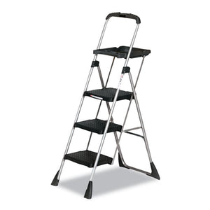 ESCSC11880PBLW1 - Max Work Steel Platform Ladder, 22w X 31d X 55h, 3-Step, Black