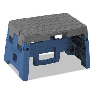 "ESCSC11903BGR1E - One-Step Folding Step Stool, 300 Lb, 8 1-2"" Working Height, Blue-gray"