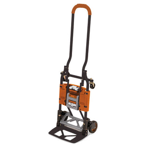 ESCSC12222BGO1E - 2-In-1 Multi-Position Hand Truck And Cart, 16 5-8 X 12 3-4 X 49 1-4, Gray-orange
