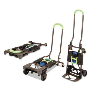 ESCSC12222PBG1E - 2-In-1 Multi-Position Hand Truck And Cart, 16 5-8 X 12 3-4 X 49 1-4, Blue-green