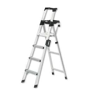 ESCSC2061AABLD - Signature Series Aluminum Folding Step Ladder W-leg Lock & Handle, 6 Ft, 4-Step