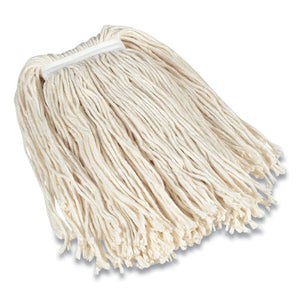 "Cut-end Wet Mop Head, Cotton, #32, 1"" Headband, White"