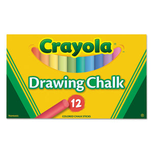 ESCYO510403 - Colored Drawing Chalk, 12 Assorted Colors 12 Sticks-set