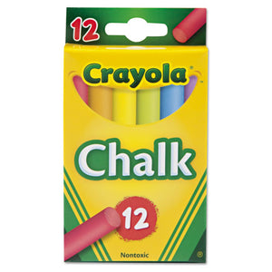 ESCYO510816 - Chalk, Two Each Of Six Assorted Colors, 12 Sticks-box