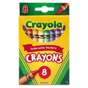 ESCYO523008 - Classic Color Crayons, Peggable Retail Pack, Peggable Retail Pack, 8 Colors