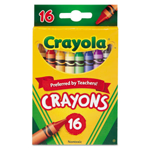 ESCYO523016 - Classic Color Crayons, Peggable Retail Pack, 16 Colors