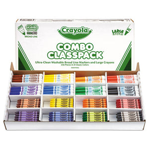 ESCYO523348 - Classpack Crayons W-markers, 8 Colors, 128 Each Crayons-markers, 256-box