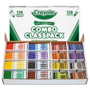 ESCYO523349 - Crayons And Markers Combo Classpack, Eight Colors, 256-set