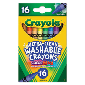 ESCYO526916 - Ultra-Clean Washable Crayons, Regular, 8 Colors, 16-box