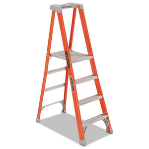 ESDADFXP1704BX - Fiberglass Pro Platform Step Ladder, 25w X 9 1-2d X 81 1-4h, 4-Step, Orange