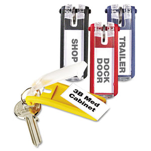 ESDBL194900 - Key Tags For Locking Key Cabinets, Plastic, 1 1-8 X 2 3-4, Assorted, 24-pack