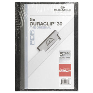 ESDBL220401 - DURACLIP REPORT COVER, 8 9-10 X 11 1-5, CLEAR, 5-PACK