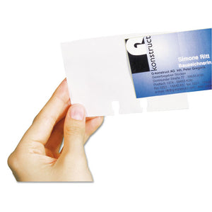 ESDBL241819 - Visifix Double-Sided Business Card Sleeves, 40-pack