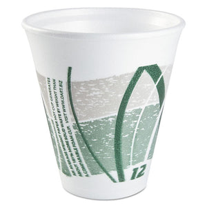 ESDCC12LX16E - Impulse Hot-cold Foam Drinking Cups, 12 Oz, White-green-gray, 1000-carton