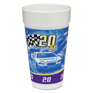ESDCC20J16RPM - Rpm Stock Print Foam Hot-cold Cups, 20oz, Purple-blue-yellow-black, 25-bg, 20-ct