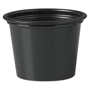 ESDCCP100BLK - Polystyrene Portion Cups, 1 Oz, Black, 2500-carton