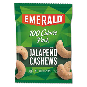 ESDFD33625 - 100 Calorie Pack Nuts, Jalapeno Cashews, 0.62 Oz Pack, 7-box
