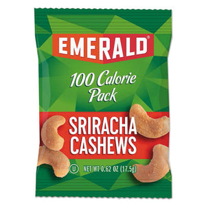 ESDFD33825 - 100 Calorie Pack Nuts, Sriracha Cashews, 0.62 Oz Pack, 7-box