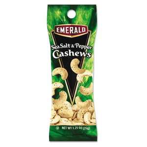 ESDFD93817 - Sea Salt And Pepper Cashews, 1.25 Oz. Tube Package, 12-box