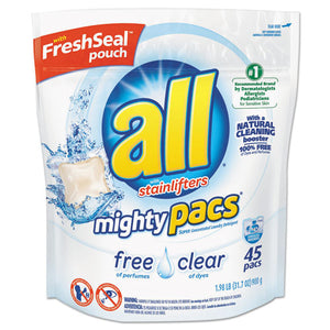 ESDIA46281 - Mighty Pacs Free And Clear Super Concentrated Laundry Detergent, 45-pack