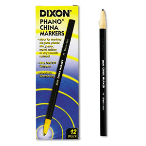 ESDIX00077 - China Marker, Black, Dozen