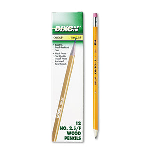 ESDIX12875 - Oriole Woodcase Pencil, F #2.5, Yellow, Dozen