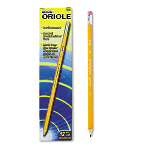 ESDIX12886 - Oriole Woodcase Presharpened Pencil, Hb #2, Yellow, Dozen