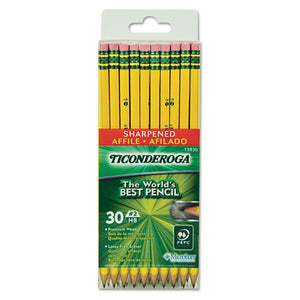 ESDIX13830 - Pre-Sharpened Pencil, Hb, #2, Yellow Barrel, 30-pack