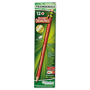 ESDIX14259 - Ticonderoga Erasable Colored Pencils, 2.6 Mm, Cme Lead-barrel, Dozen