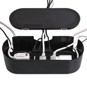 "ESDLNCTULGEB - Large Cable Tidy Units, 16 1-2"" X 6 1-2"" X 5 1-4"", Black"