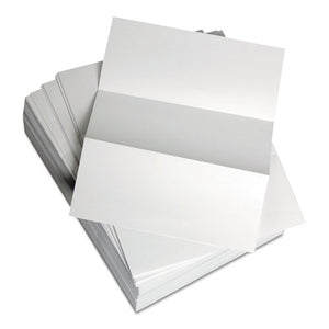 "ESDMR851332 - Custom Cut-Sheet Copy Paper, 20 Lb, 8 1-2 X 11, White, Perfed 3 2-3"", 1 Rm"