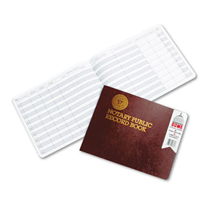 ESDOM880 - Notary Public Record, Burgundy Cover, 60 Pages, 8 1-2 X 10 1-2