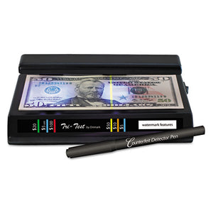 ESDRI351TRI - Tri Test Counterfeit Bill Detector, Uv With Pen, 7 X 4 X 2 1-2