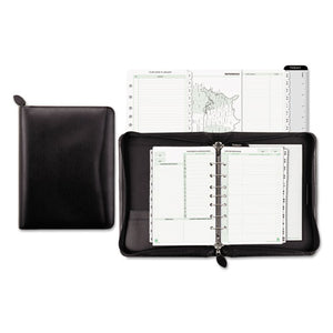 ESDTM41745 - Recycled Bonded Leather Starter Set, 5 1-2 X 8 1-2, Black Cover