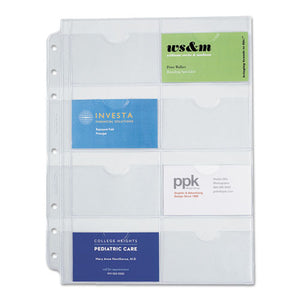 ESDTM87325 - Business Card Holders For Looseleaf Planners, 8 1-2 X 11, 5-pack