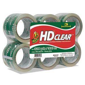 "ESDUC0007496 - Heavy-Duty Carton Packaging Tape, 3"" X 55yds, Clear, 6-pack"