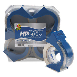 "ESDUC0007725 - Hp260 Packaging Tape W-dispenser, 1.88"" X 60yds, 3"" Core, 4-pack"