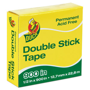 "ESDUC1081698 - Permanent Double-Stick Tape, 1-2"" X 900"", 1"" Core, Clear"