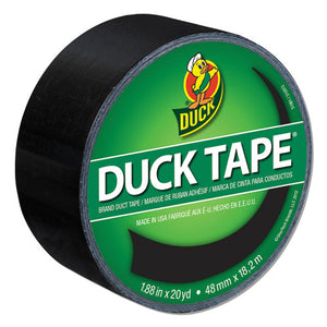 "ESDUC1265013 - Colored Duct Tape, 9 Mil, 1.88"" X 20 Yds, 3"" Core, Black"